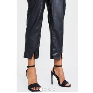 Vintage Bebe Square-Toe Sandal Heel